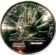 LIBERTY - Give me everything to breath free (Silver color) – obverse