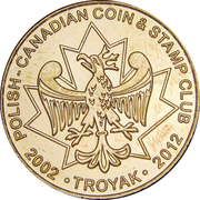 Token - Polish-Canadian Coin & Stamp Club Troyak – reverse