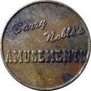 Token - Barry Nobles Amusements – obverse
