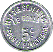 5 CENTIMES FUNICULAIRE LE ROYAL – obverse