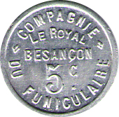 5 CENTIMES FUNICULAIRE LE ROYAL – reverse