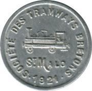 5 Centimes - Société des Tramways bretons - St Malo [35] – obverse