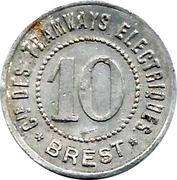 10 PFENNIG TRAMWAYS DE BREST – reverse
