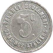 5 Centimes - Société Parisienne de Confection - Paris [75] – reverse