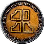 Token - National Bank of Columbus – obverse