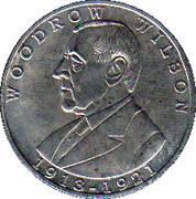 Token - Woodrow Wilson – reverse