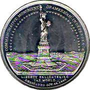 1884 Bartholdi Statue of Liberty Presentation Medal – reverse
