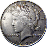 Double faced Peace Dollar – obverse