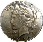 Double faced Peace Dollar – reverse