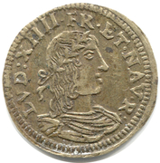 Counter Token - Louis XIV (Nuremberg; Conrad Lauffer) – obverse