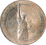 Centennial of the Statue of Liberty – obverse