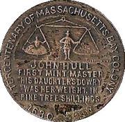 Tercentenary of Massachusetts bay colony – reverse