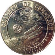 City of Hawthorne California Coin Expo 1966 Space Theatre of Operations – reverse