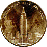 Empire State Building Token – obverse