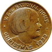 Token - Christmas VFW National Home Lucky  – obverse