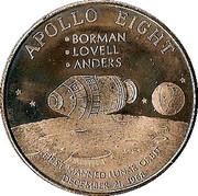 Token - Apollo 8 – obverse