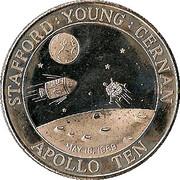 Token - Apollo 10 – obverse