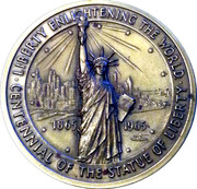 Statue of Liberty Centennial - Ellis Island National Shrine MACO – obverse