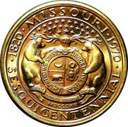 Missouri - Gateway to the West SesquiCentennial 1820-1970 – reverse