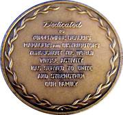 Bronze Médal Tupperware 1970 – reverse