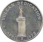 Token - Birmingham Centennial Vulcan Dedication April 8, 1972 -  reverse