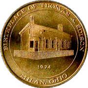 birthplace of thomas edison – obverse