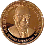 Governor Melvin Evans Medal – obverse