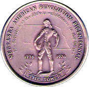 Medal - Nebraska American Revolution Bicentennial – reverse