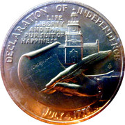 Medal - American Revolution Bicentennial (Thomas Jefferson) – reverse