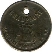Token - Champagne Bley frères (Reims) – reverse