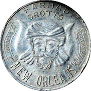 Mardi Gras Token - Farhat Grotto (New Orleans) – reverse