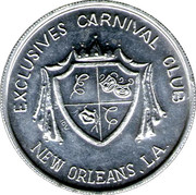Mardi Gras Token - Exclusives Carnival Club (New Orleans, Louisiana) – obverse