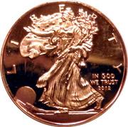 1/10 Oz Silver (Liberty; Copy) – reverse