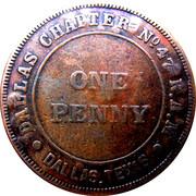 1 Penny - Dallas Masonic Token – obverse
