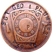 1 Penny - Dallas Masonic Token – reverse