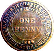 1 Penny - Leavenworth Chapter No. 2 (Kansas) – obverse