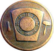 1 Penny - Leavenworth Chapter No. 2 (Kansas) – reverse
