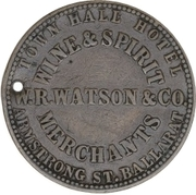Token - W.R. Watson & Co. (Sovereign Hill) – reverse