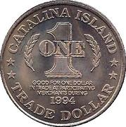 1 Trade Dollar - Catalina Island – reverse