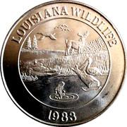 Mardi Gras Dabloon - Louisiana Wildlife – obverse