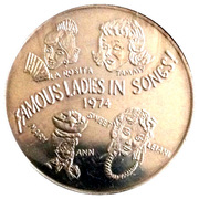 Mardi Gras Dabloon - Famous Ladies In Song – obverse