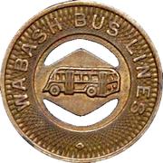 1 Fare - Wabash Bus Lines (Wabash County, Indiana) – obverse