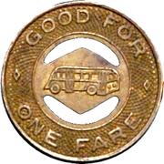 1 Fare - Wabash Bus Lines (Wabash County, Indiana) – reverse