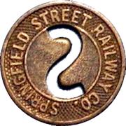 1 Fare - Springfield Street Railway Co. (Springfield, Massachusetts) – obverse