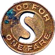 1 Fare - Springfield Street Railway Co. (Springfield, Massachusetts) – reverse
