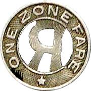 1 Fare - R. R. & E. CO. (Roanoke, Virginia) – reverse