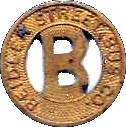 1 Fare - Beidler Street Bus Co. (Muskegon, MI) – obverse