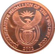 2 Cents (Commemorative Medallion) – obverse