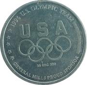 Token - Atlanta 1996 US Olympic Team, General Mills Sponsor (Gymnastics) – reverse