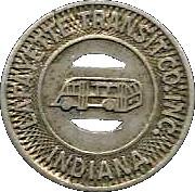 1 Fare - Lafayette Transit Co. (Indiana) – obverse